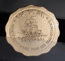 Egypt Rare Golden Sticker Dim 3.7 Cm Egyptian Society For Underwear's Label Undergarment - Trademarks