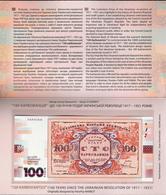 Ukraine 2017 - 100 Karbovantsiv Pick NEW UNC COMMEMORATIVE Booklet - Ukraine