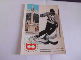 BELLE CARTE ..IX E JEUX OLYMPIQUES D'HIVER ..INNSBRUCK 1964 ...AUTRICHE - Jeux Olympiques