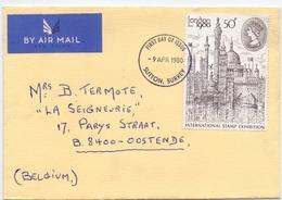 Omslag Enveloppe - Stempel Cachet  - FDC - Sutton Surrey 1980 - 1971-1980 Em. Décimales