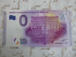 Billet Euro 2015 Souvenir Musée Océanographique De Monaco 0 €. - Monaco