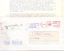 Omslag Enveloppe - Aangetekend Recommandé - Stempel Cachet Douala Cameroun - Kameroen 1989 - Cameroun (1960-...)