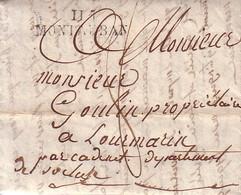 TARN ET GARONNE - 115 MONTAUBAN - TAXE 8 MANUSCRITE POUR LOURMARIN VAUCLUSE - VERSO PAR CADENET DEPARTEMENT DE VAUCLUSE - Marcophilie (Lettres)