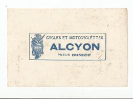 Buvard  Cycles Et Motocyclettes Alcyon  Pneux  Dunlop - Non Classés