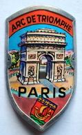 Plaque De Cadre Pour Vélo Arc De Triomphe Paris - Obj. 'Souvenir De'