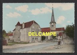 DF / 21 CÔTE D' OR / CHAMPAGNE-SUR-VINGEANNE / LA PLACE AVEC L' EGLISE ET LA POSTE - Autres Communes