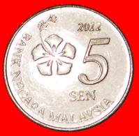 √ PEA TENDRILS: MALAYSIA ★ 5 SEN 2012 MINT LUSTER! LOW START ★ NO RESERVE! - Malaysia
