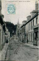 N°62451 -cpa Chennebrun -église Et Rue Du Château- - France