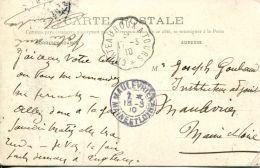 N°62458 -cachet Convoyeur (ambulant) Chateauroux à Tours -1910- - Railway Post