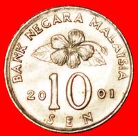 √ CONGKAK: MALAYSIA ★ 10 SEN 2001 MINT LUSTER! LOW START ★ NO RESERVE! - Malaysia