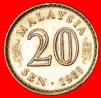 √ MOON AND STAR ERROR: MALAYSIA ★ 20 SEN 1988! LOW START ★ NO RESERVE! - Malaysia