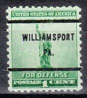 USA Precancel Vorausentwertung Preo, Bureau Pennsylvania, Williamsport 899-61 - Vorausentwertungen
