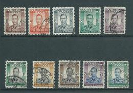 Southern Rhodesia 1937 KGVI Part Set Of 10 To 5 Shillings Used - Southern Rhodesia (...-1964)