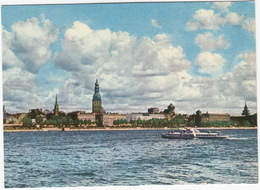 Riga - View On The Komsomol Embankment - (BOAT/SHIP)  - (Latvijas PSR / Latvia / Letland) - Letland