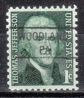 USA Precancel Vorausentwertung Preo, Locals Pennsylvania, Woodland 841 - Vorausentwertungen