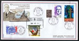Enveloppe Premier Jour, Brest Armée, Charles De Gaulle, Croiseur Colbert 2007. St Pierre Et Miquelon - FDC