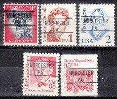 USA Precancel Vorausentwertung Preo, Locals Pennsylvania, Worchester 895, 5 Diff. - Vereinigte Staaten