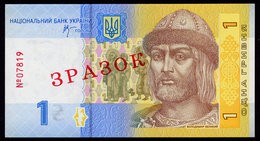 UKRAINE 1 HRYVNIA 2006 Pick SPECIMEN 116Aas Unc - Ukraine
