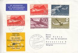 Liechtenstein - Lettre De 1960 - Oblit Vaduz - Vol Par Hélicoptère Vaduz Zürich - Avions - Hélécoptères - Liechtenstein