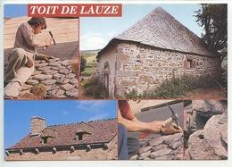 """Toit De Lauze : """"lauzes"""" Feuilles De Schiste Ou Phonolite - Multivues Couvreur (cp Vierge 63/131 Debaisieux) - Artisanat"""
