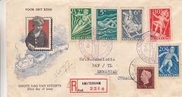 Nederland - Pays Bas - Aangetekende FDC Brief Van 1948 - Verzonden Naar Emmastad - Stempel Van Willemstad - Storia Postale
