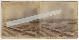 ESPAGNE SPAIN ESPANA BARCELONE BARCELONA Circa 1880 1890 PHOTO STEREO LE PORT /FREE SHIPPING REGISTERED - Stereoscopic