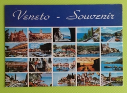 Cartolina VENETO - SOUVENIR - Viaggiata - Postcard - Vedutine - Italia