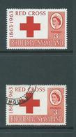 Rhodesia & Nyasaland 1963 Red Cross 3d Single MNH & FU - Rhodesia & Nyasaland (1954-1963)
