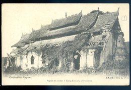 Cpa Du Laos Pagode En Ruines à Xieng Khouang - Tranninh (1)  Avril18-26 - Laos