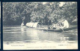 Cpa Du Laos Comment On Voyage Au Laos , Dans Les Eaux Calmes  Avril18-26 - Laos