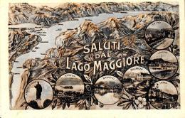 [DC11978] CPA - SALUTI DAL LAGO MAGGIORE - PERFETTA - Non Viaggiata - Old Postcard - Italia
