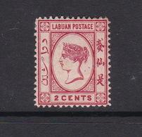 Malaysia-Labuan Scott 33 1892 Queen Victoria 2c Rose,mint Hinged - Malaysia (1964-...)