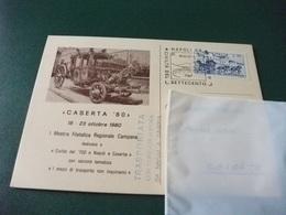 CASERTA 80 I° MOSTRA FILATELICA REGIONALE CAMPANA CIVILTA DEL 700 NAPOLI E CASERTA CARROZZA - Napoli (Napels)