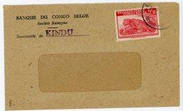 CONGO BELGE ENV 1947 KINDU LETTRE BANQUE DU CONGO BELGE - Belgian Congo