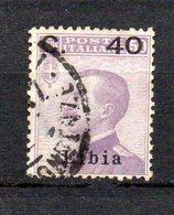 1922 Libia Sovrastampato N. 38 Timbrato Used - Libië