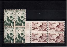 ALGERIE  BLOCS DE 4  POSTE AERIENNE N° 9 A 12  NEUFS XX - Algeria (1924-1962)