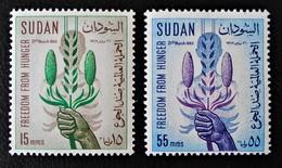 CAMPAGNE MONDIALE CONTRE LA FAIM 1963 - NEUFS ** - YT 158/59 - MI 193/94 - Soudan (1954-...)