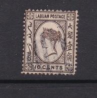 Malaysia-Labuan Scott 36 1892 Queen Victoria 10c Brown,used - Malaysia (1964-...)