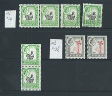 Rhodesia & Nyasaland 1963 QEII 1/2d & 1d Coil Stamps MNH & FU Group Of 8 - Rhodesia & Nyasaland (1954-1963)
