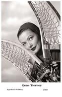 GENE TIERNEY - Film Star Pin Up - Swiftsure PHOTO  Postcard 2000 1/383 - Postcards