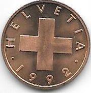 Switzerland 1 Rappen 1992  Km 46 Bu - Switzerland