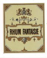 Etiquette  Rhum  Fantaisie -  Imprimeur E.Baelde, Poitiers - Années 1900 - - Rhum