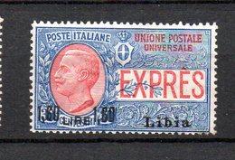 1922 Libia Espresso N. 6 Nuovo MLH* Sassone 22 Euro - Libyen
