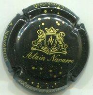 CAPSULE-CHAMPAGNE NAVARRE Alain N°08 Noir & Or - Champagne