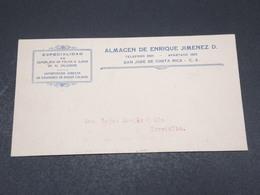 COSTA RICA - Enveloppe Commerciale De San José Pour Turrialba En 1928 , Affranchissement Au Verso - L 17378 - Costa Rica