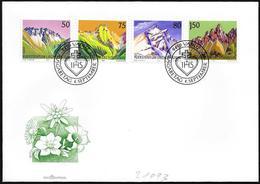 Liechtenstein: FDC, Montagne Diverse, Différentes Montagnes, Different Mountains - Altri