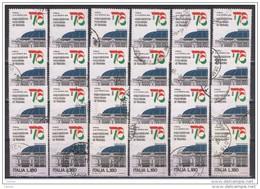 REPUBBLICA:  1976  ITALIA  '76  -  £. 180  POLICROMO  US. -  RIPETUTO  24  VOLTE  -  SASS. 1329 - 6. 1946-.. Repubblica