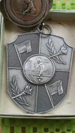 Medaille / Medal - Medaille  Nederland  -  2 X Medaille Biljarten E.B.B 1949 - 1969 ( Enschede ) - Billares