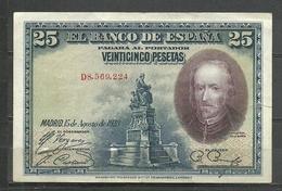 ESPAÑA  BILLETE ESPAÑOL CIRCULADO REGULAR ESTADO  A SIDO DOBLADO CON ROTURAA.V.C.5.18) - [ 3] 1936-1975 : Regency Of Franco