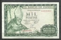 ESPAÑA  BILLETE ESPAÑOL CIRCULADO EN BUENA CONSERBACIÓN  .V.C.5.18) - [ 3] 1936-1975 : Régimen De Franco